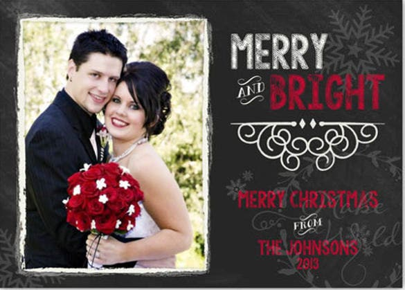 chalkboard wedding announcement save the date christmas card
