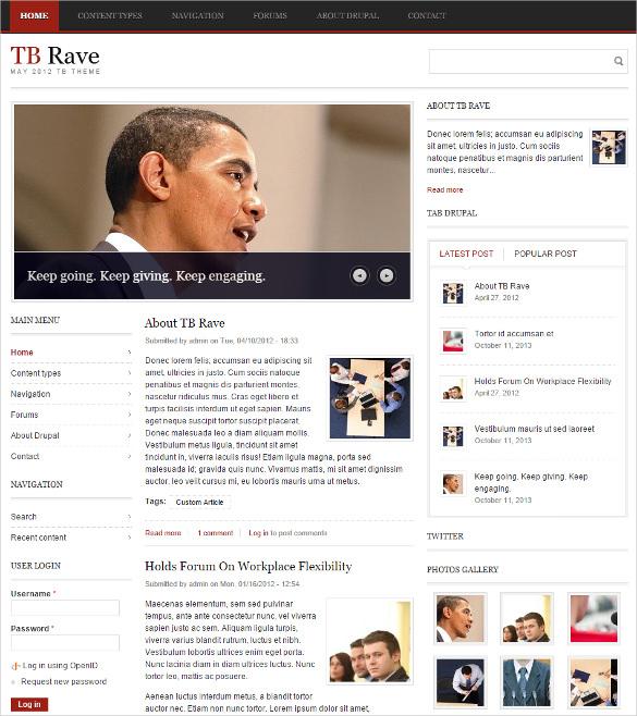 free responsive magazine drupal template