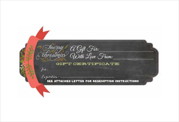 christmas gift certificate template pdf free download