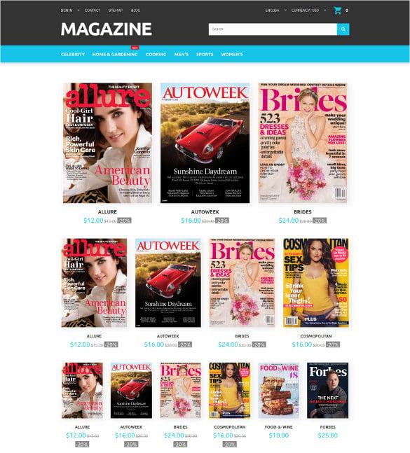 magazine responsive prestashop html5 theme