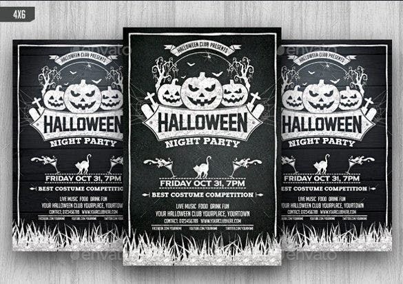 halloween chalkboard flyer