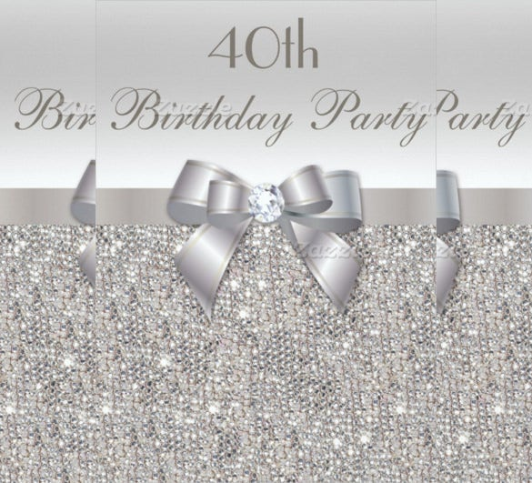 24 40th birthday invitation templates psd ai free premium silver sequins 40th birthday party invitation filmwisefo