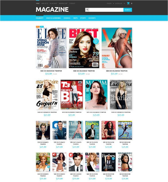 magazines store opencart html5 template