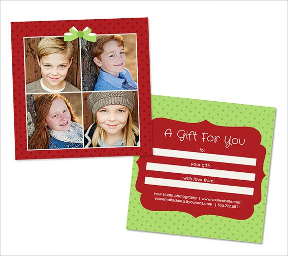 christmas gift certificate psd template download