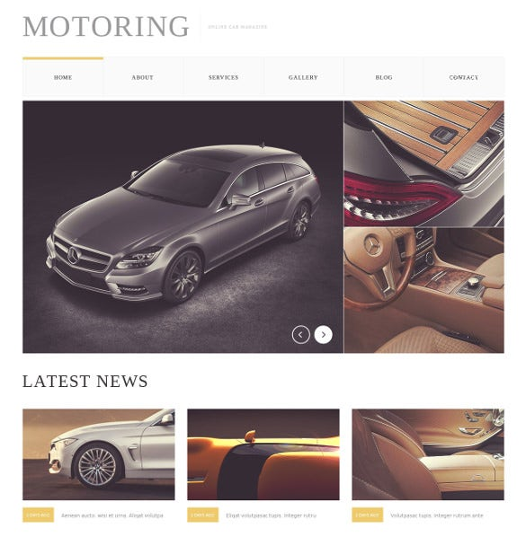 car bike magazine drupal html5 template
