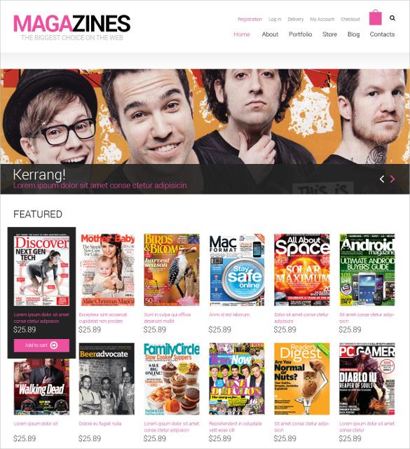 news portal responsive woocommerce html5 theme