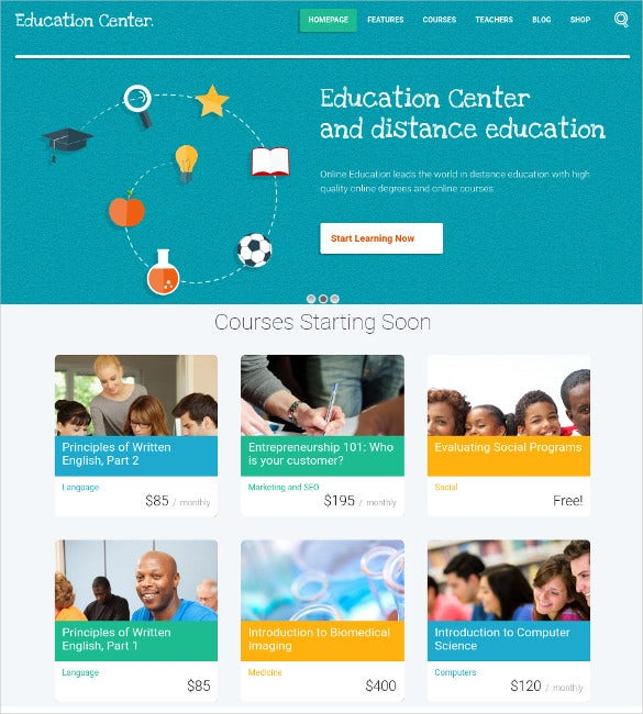 education event course wordpress php theme 49