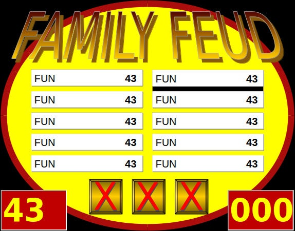 Family Feud Point Template Free