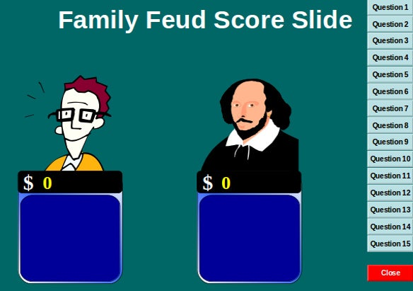 Family Feud Powerpoint Templates  Free Sample Example