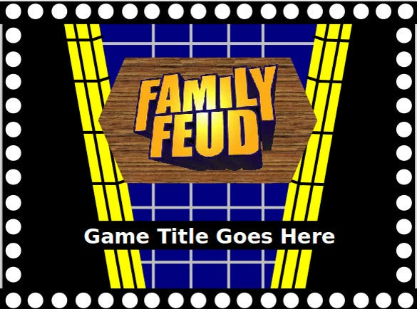 Family Feud Powerpoint Template   Free Ppt Pptx Documents