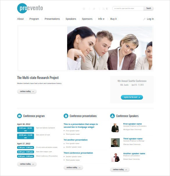 events manager wordpress responsive php theme1