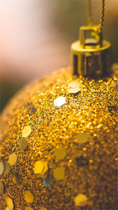 golden christmas ball glitter decoration iphone 6 wallpaper download