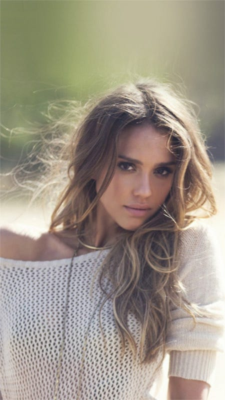 jessica alba pure cute actress iphone 6 wallpaper background