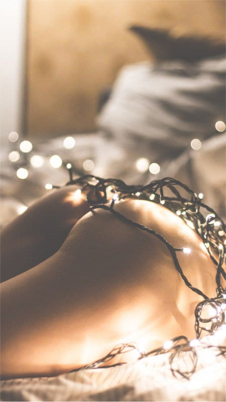 naked girl covered in christmas lights iphone 6 wallpaper