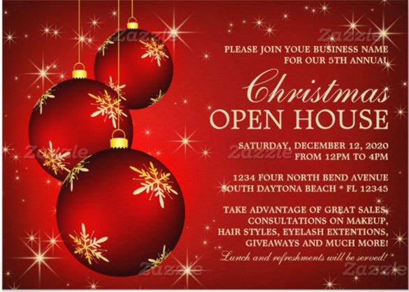 17 business invitation templates free psd vector eps for Free holiday invitation templates