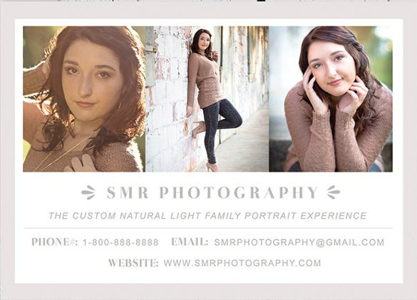business card for photographers small business