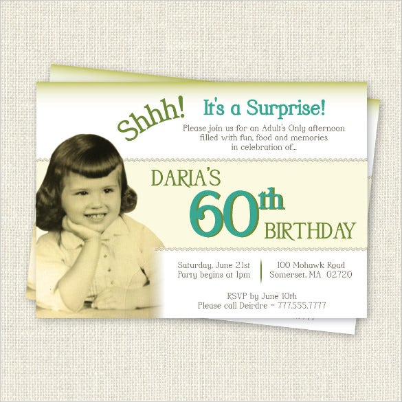 60Th Birthday Invitation – Invitations for 60th Birthday