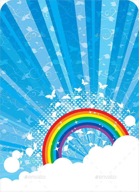 abstract vector rainbow background eps download