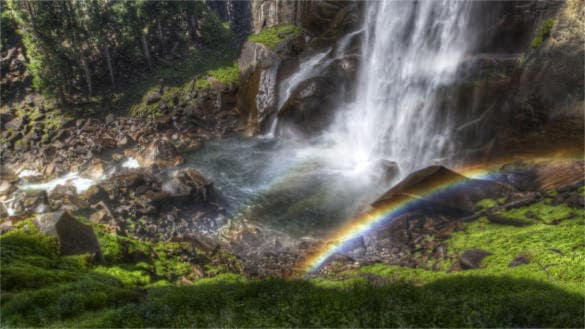 rainbow falls streams background download for laptop