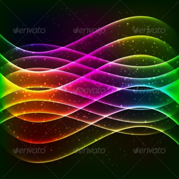 neon vector rainbow colors abstract wave equalizer download