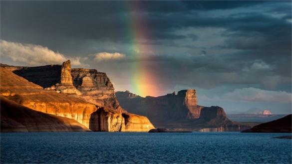 rainbow portal hd background free for desktop