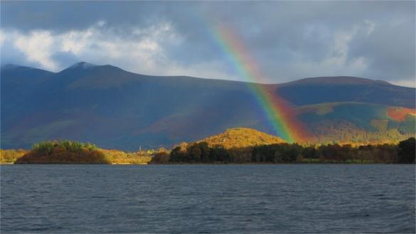 derwentwater rainbow background template for free