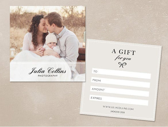 Photography Gift Certificate Template 13 Free Word PDF PSD – Fillable Gift Certificate Template