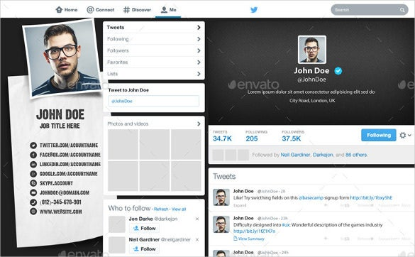 twitter background design for premium