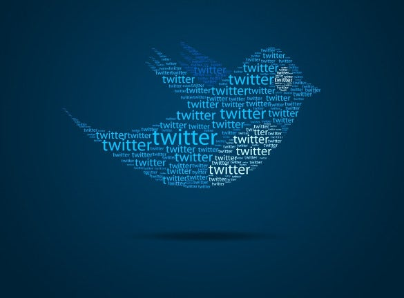 typo twitter bird background for free