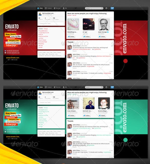 twitter background for news website