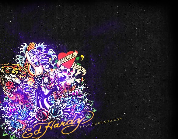 ed hardy fashion twitter background