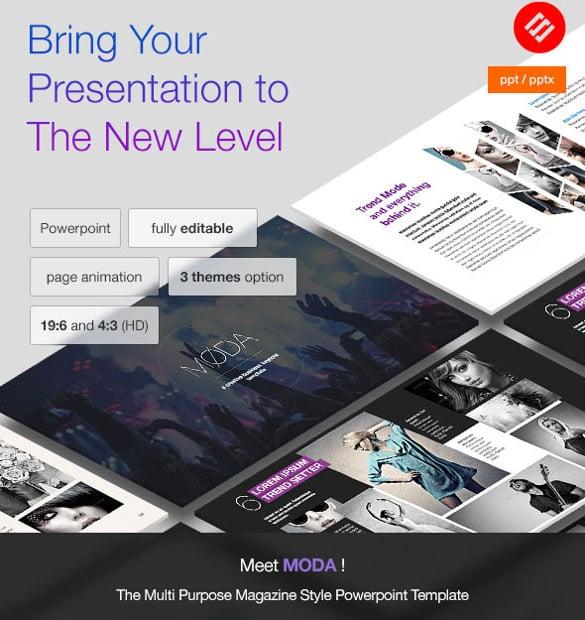 moda – modern powerpoint template
