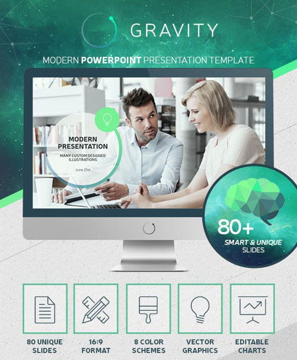 gravity powerpoint – modern presentation template