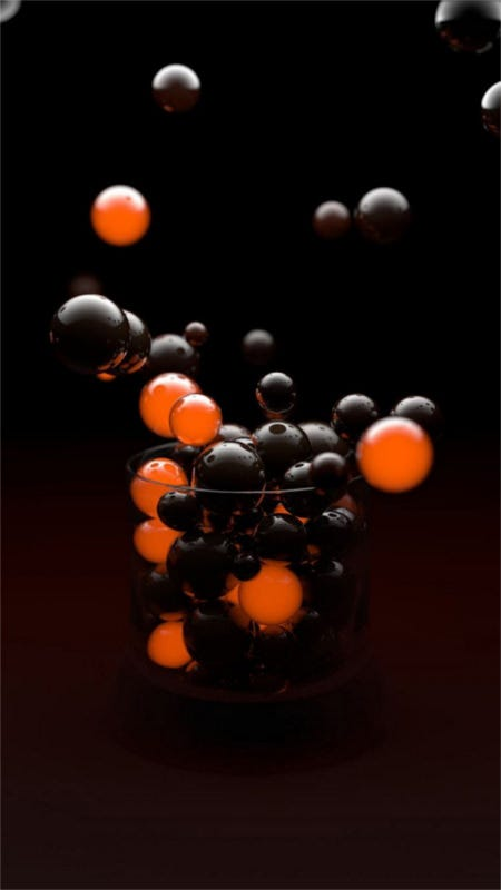 drift of 3d sphere iphone 6 wallpaper download