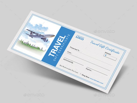 Travel gift certificate templates 9 free word pdf psd travel gift certificate psd template download yadclub Images