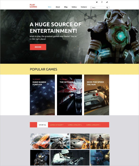 play games wordpress html5 theme