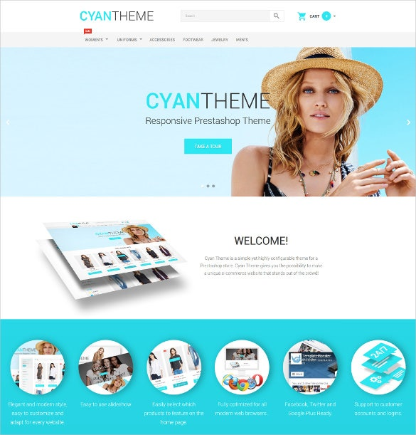 fashion store responsive prestashop html5 theme