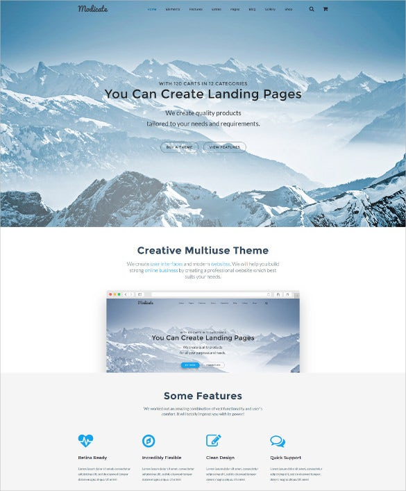 modicate multipurpose website html5 template