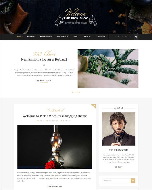 responsive wordpress blog html5 theme