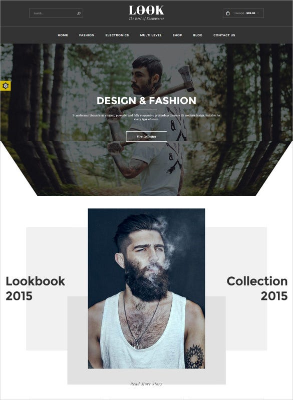 look ecommerce html5 template
