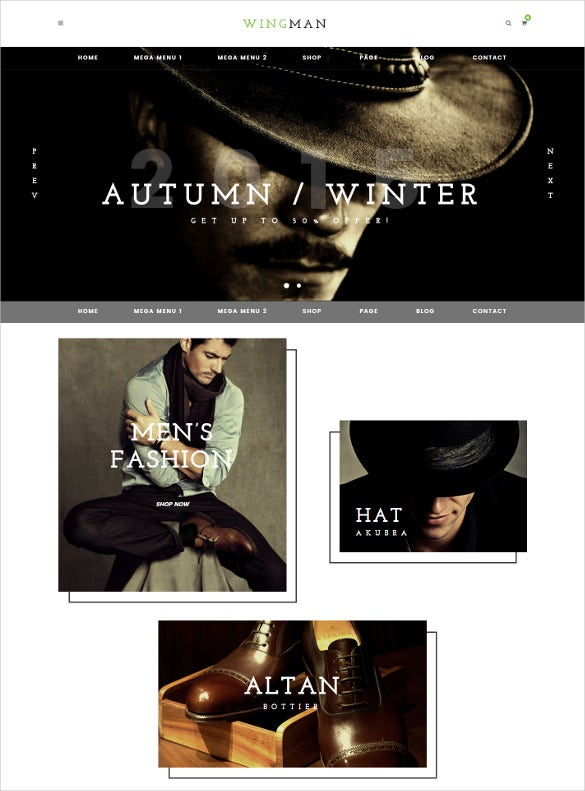 wingman ecommerce and blog html5 template
