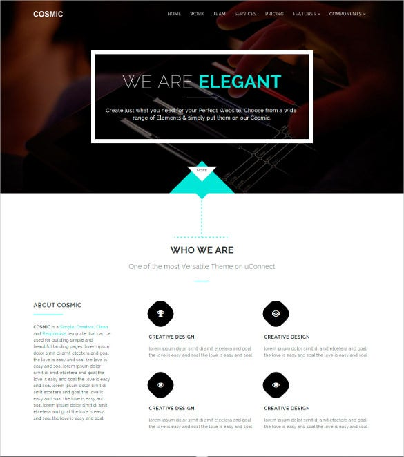 cosmic simple responsive template