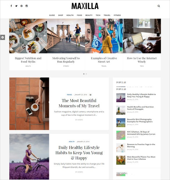 maxilla magazine wordpress html5 theme