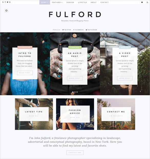 fulford multipurpose blog html5 theme