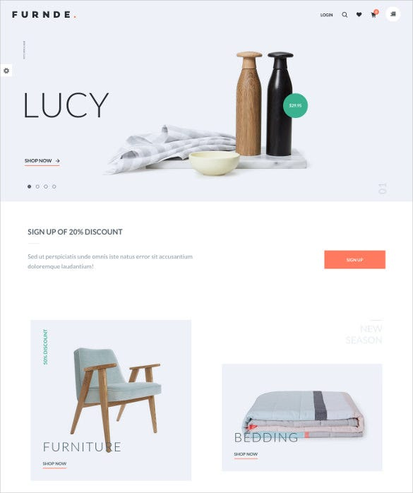furnde responsive ecommerce wordpress theme