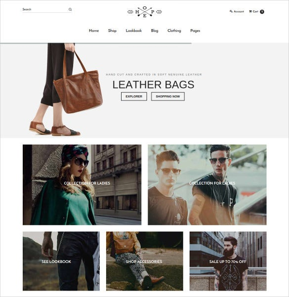 hope responsive ecommerce bootstrap template