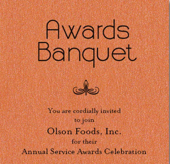 orange sparkle business awards invitations