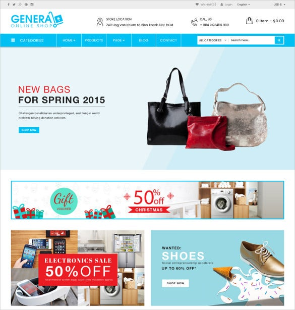 general responsive woocommerce supermarket theme