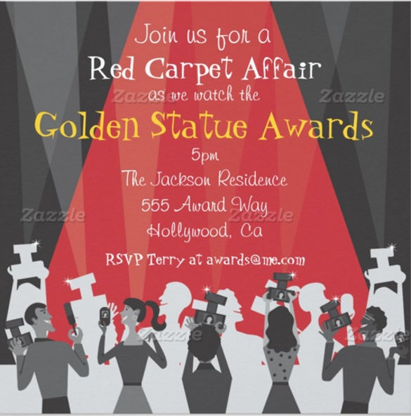 Award invitation template 14 free psd vector eps ai format hollywood movie award party invitation stopboris Images