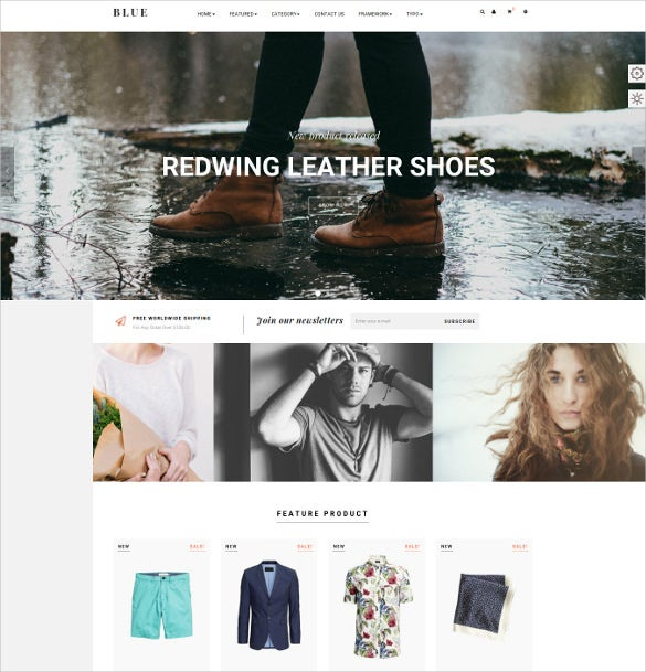 leo blue responsive prestashop ecommerce theme